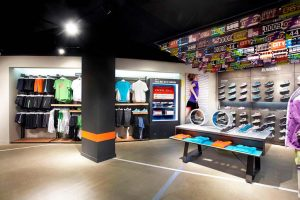 diseño de interior para tienda de running